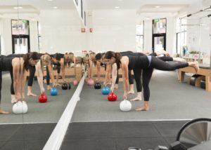 Kettlebell class at Domain Health Melbourne